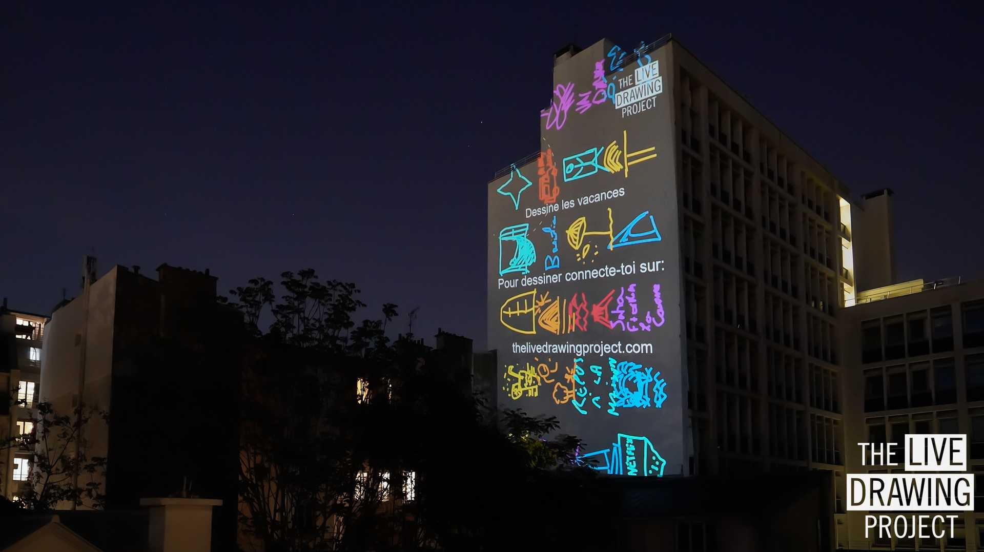 Picture of a videoprojection on the 26th of April